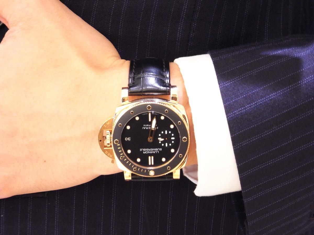 心斎橋店 販売スタッフTの愛用時計は、PANERAI(パネライ)サブマーシブル 42mm - PANERAI スタッフ着用時計