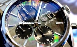 タグホイヤー日本限定モデル、ブラックマザーオブパール「カレラキャリバー16クロノグラフ」