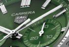 タグホイヤー 美しいグリーン文字盤を採用 「カレラ キャリバーホイヤー02スポーツクロノグラフ」