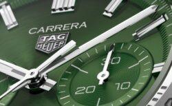 トレンドカラーのグリーン!タグ・ホイヤー「カレラ キャリバーホイヤー02スポーツクロノグラフ」