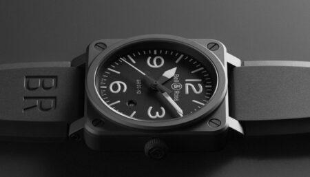 ベル&ロス ブラックマットな質感が上品な BR03 92-BL-CE/SRB