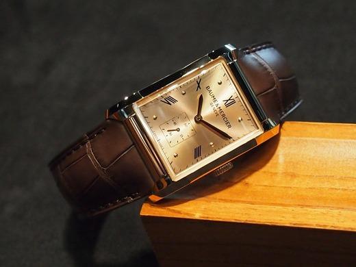 今日のBAUME&MERCIERはハンプトン 手巻きモデル。