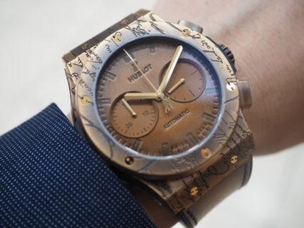 """【ウブロ】ベルルッティの特徴を余すことなく時計に落とし込んだあのモデル「クラシック・フュージョン クロノグラフ ベルルッティ """"コールドゴールド""""」"""