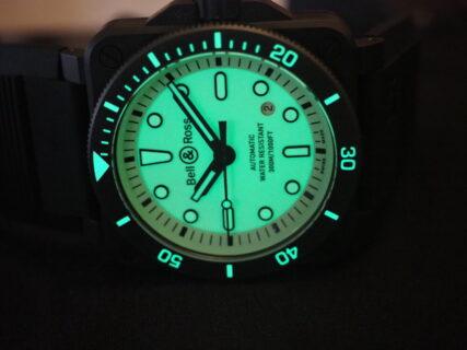 【ベル&ロス】ここまで力強く光る時計はいまだかつて存在したか? BR 03-92 DIVER FULL LUM