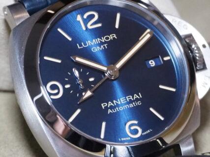 美しいブルー文字盤に魅せられる モダンで機能的な実用時計 パネライ「ルミノール GMT」