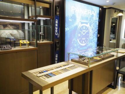 仙台店はパネライのブースが新たに生まれ変わりました!一押しモデルの入荷もあります「サブマーシブル PAM00973」