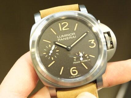 生産終了が決定した手巻きチタンモデル「ルミノール 8デイズ パワーリザーブ PAM00797」