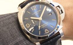 ブルーの文字盤の仕上げが綺麗なGMT搭載の機能的モデル「ルミノール GMT PAM01033」