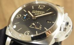 伝統的なフォルムの高機能モデル再入荷しました「ルミノール GMT パワーリザーブ PAM01321」