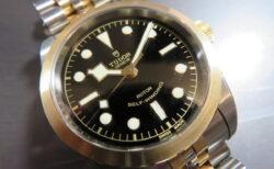 ゴールドのカラーが目を引くエレガントな「ブラックベイ 36 S&G」