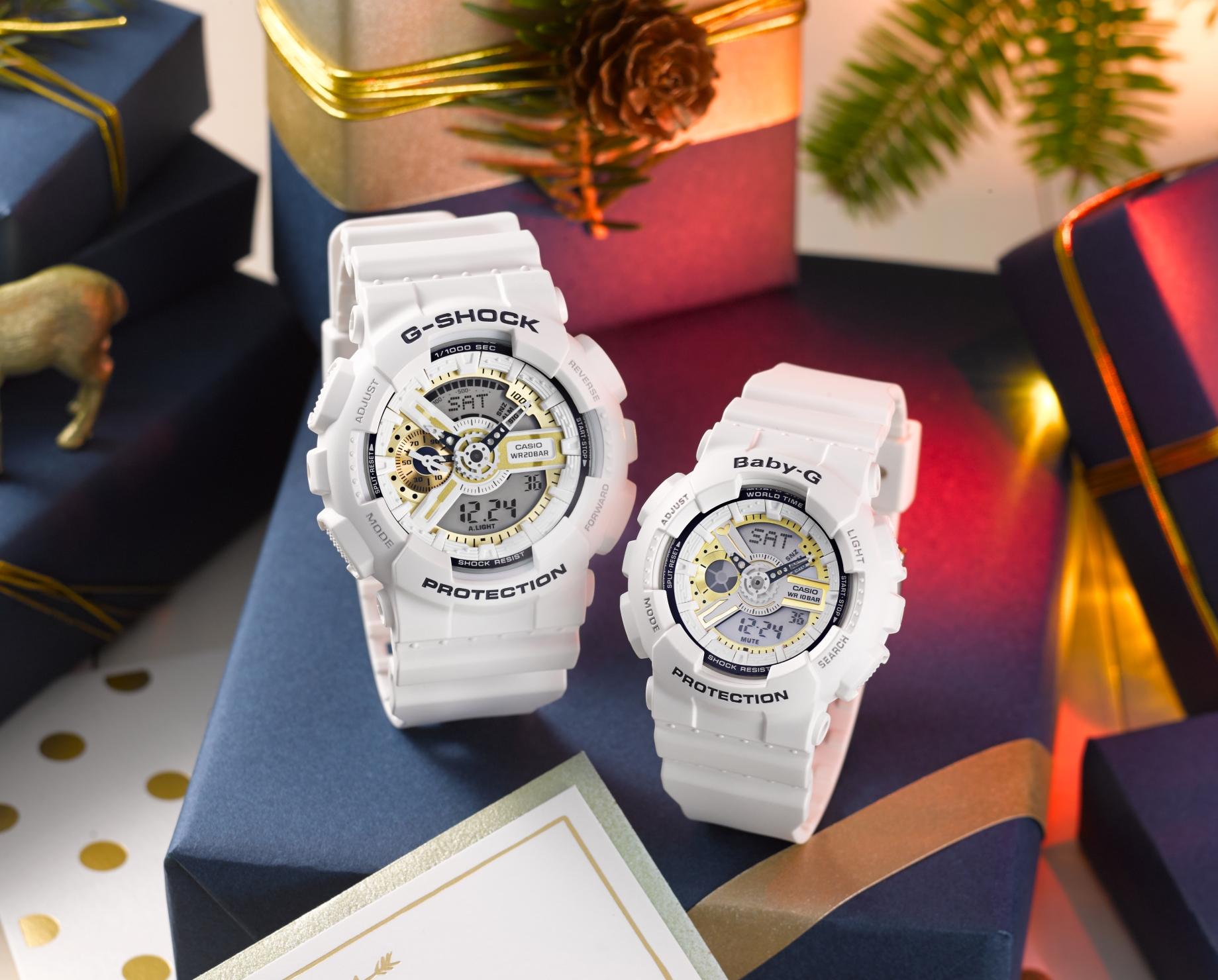 G-SHOCK 恋人たちに贈るクリスマス限定ペア「LOVER'S COLLECTION(ラバーズコレクション)LOV-16A-7AJR&LOV-16C-7JR」残り僅かです。は完売-G-SHOCK -GA-110LD-7A_BA-110LD-7A_theme