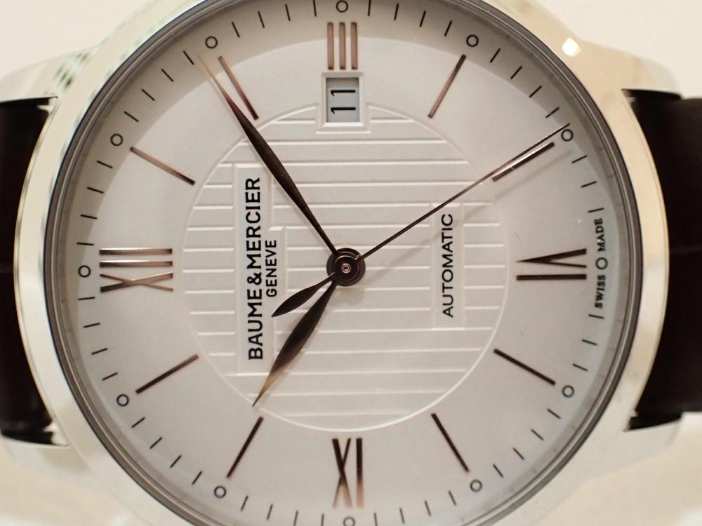 細く長い綺麗な針とローマン数字が上品な印象を感じるボーム&メルシエ「クラシマ・オートマティック」