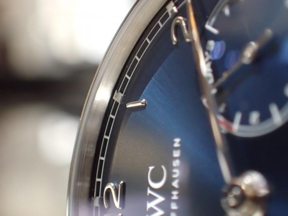 IWCフェア開催中 IWC独特の美しい光沢を放つブルー文字盤-IWC -P5100134