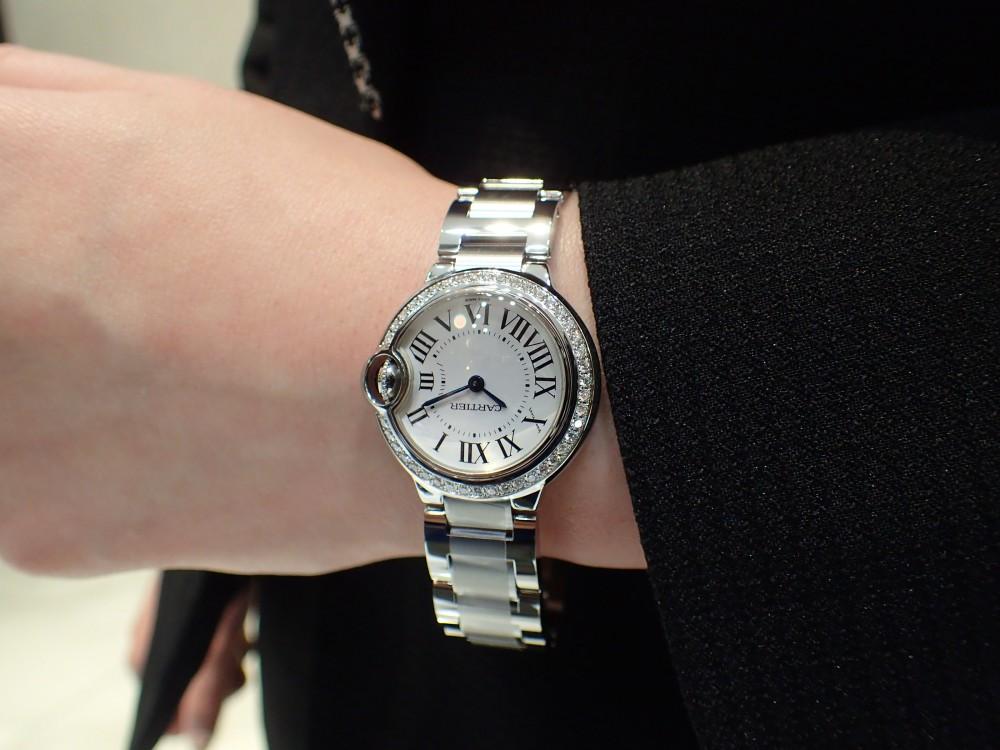 カルティエの人気モデル バロンブルーのダイヤモデルが再入荷しました!-Cartier -P6020022