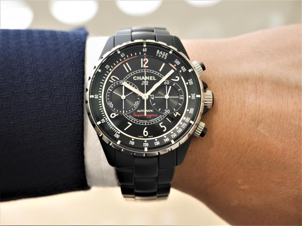 シャネル男らしい漆黒ケースにセンスを感じる大人の腕時計-CHANEL -P1360642