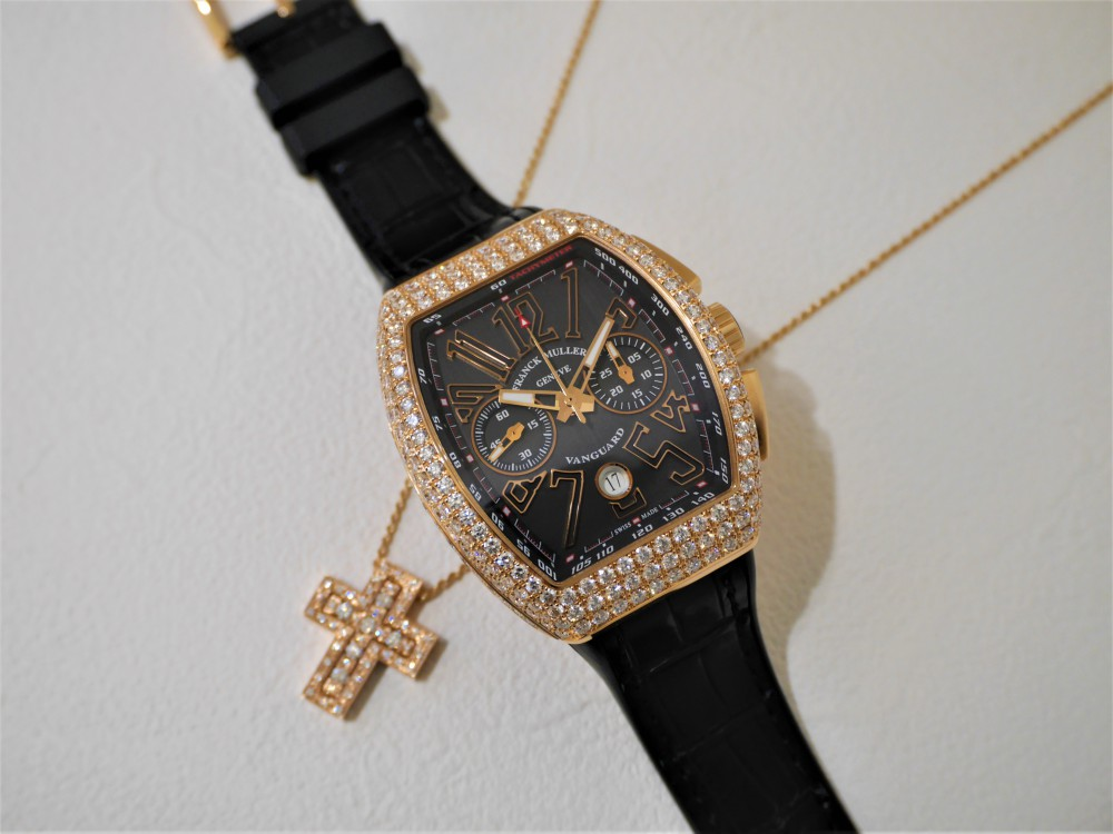 new styles 7f4db 767d2 フランクミュラーヴァンガードダイヤモンド優雅な時を楽しみませ ...