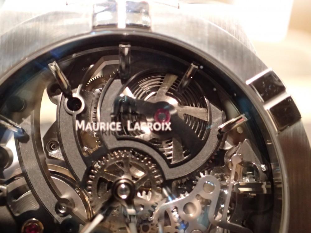 時計の一挙一動が見られる時計 モーリス・ラクロア アイコンスケルトン-MAURICE LACROIX -P4290982