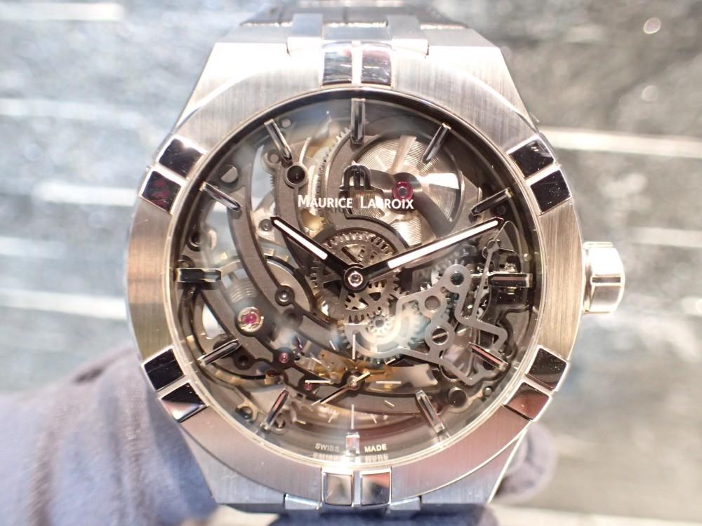 時計の一挙一動が見られる時計 モーリス・ラクロア アイコンスケルトン-MAURICE LACROIX -P4290989