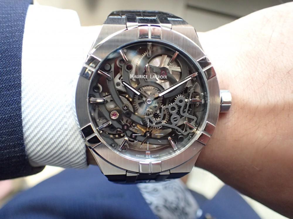 時計の一挙一動が見られる時計 モーリス・ラクロア アイコンスケルトン-MAURICE LACROIX -P4290990