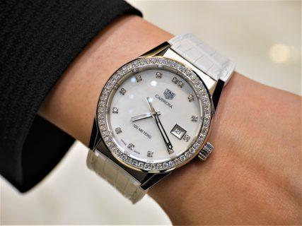 タグ・ホイヤー美しいダイヤモンドとMOPダイアルの組み合わせカレラレディ