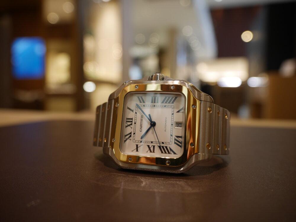 スタッフ愛用時計ご紹介! 着け心地も抜群のサントス ドゥ カルティエ-Cartier -P1410028