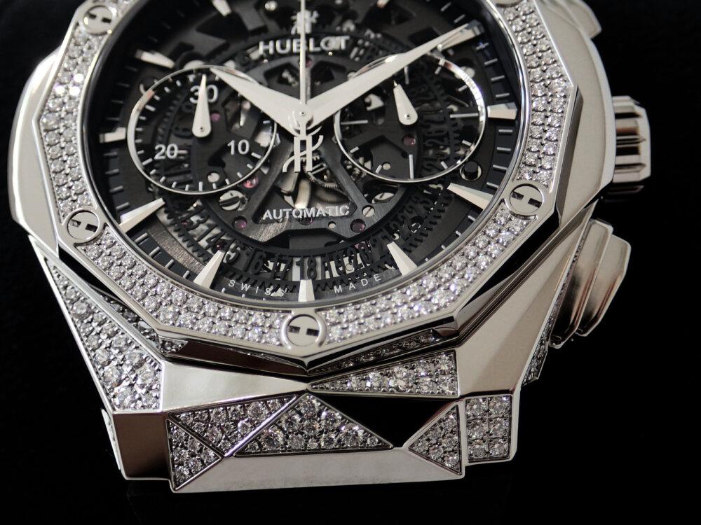 ダイヤモンドのカットを思わせる多面的なウブロ「アエロ・フュージョン クロノグラフ オーリンスキー」-HUBLOT -P8060128