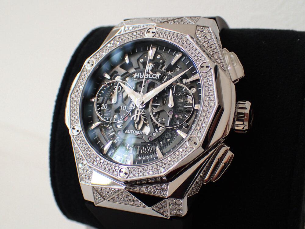 ダイヤモンドのカットを思わせる多面的なウブロ「アエロ・フュージョン クロノグラフ オーリンスキー」-HUBLOT -P8060131