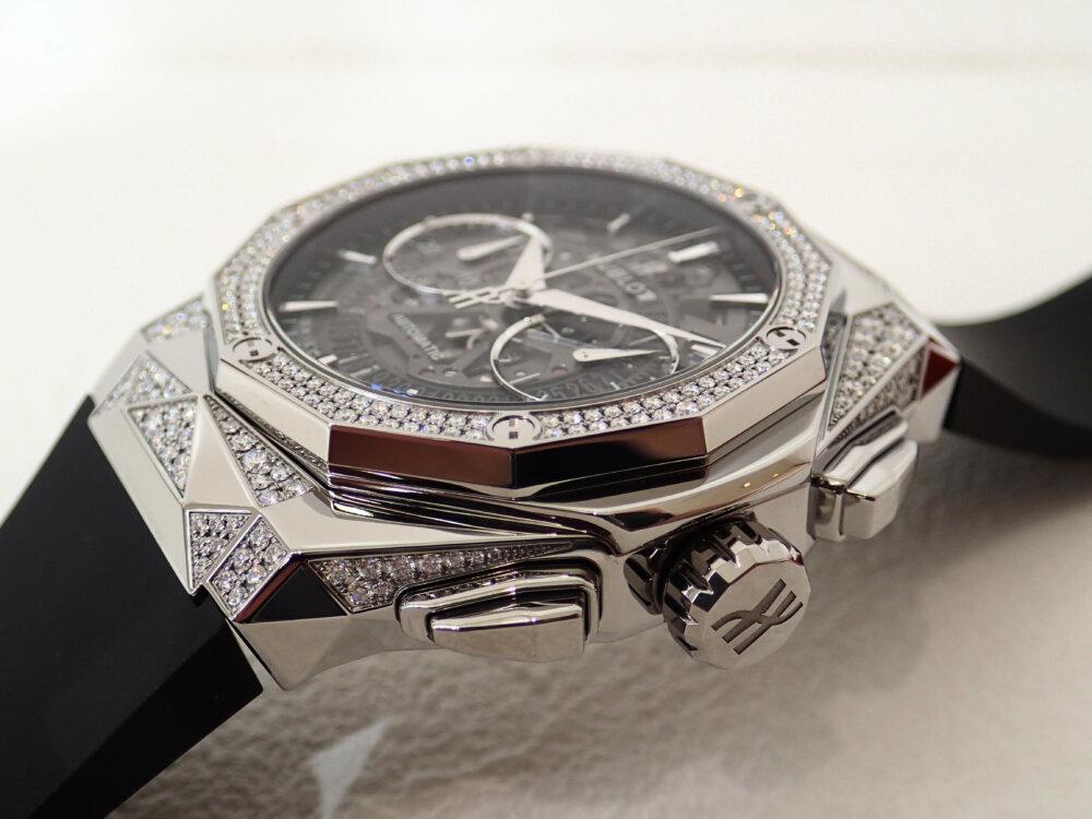 ダイヤモンドのカットを思わせる多面的なウブロ「アエロ・フュージョン クロノグラフ オーリンスキー」-HUBLOT -P8060139