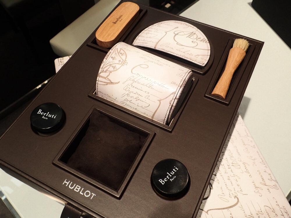 ウブロとベルルッティが融合した3針ホワイトカラーの日本限定モデルはBOXまで豪華な仕様だった-HUBLOT -PA042480