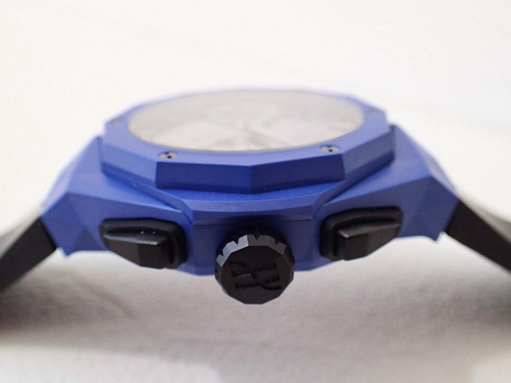 ブルーのケースを纏ったウブロの限定モデル「アエロ・フュージョン クロノグラフ オーリンスキー ブルーセラミック」-HUBLOT -PA190406