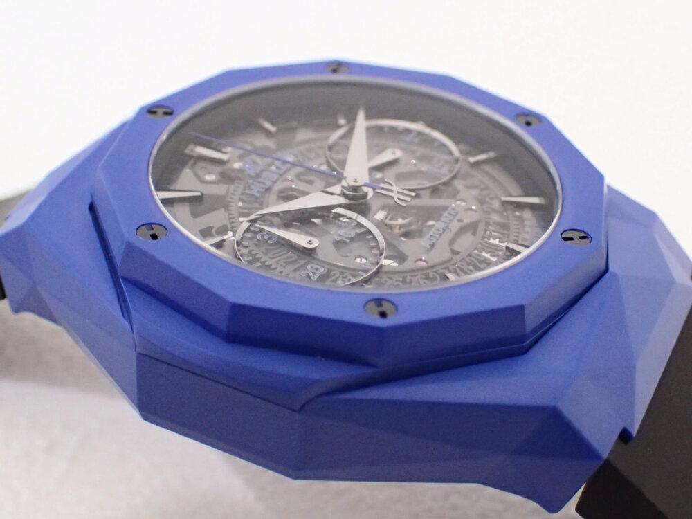 ブルーのケースを纏ったウブロの限定モデル「アエロ・フュージョン クロノグラフ オーリンスキー ブルーセラミック」-HUBLOT -PA190411