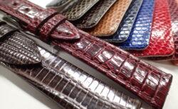 腕時計用の革ベルトはワニ革と牛革だけ?いえいえ他にもいろいろありますよ!