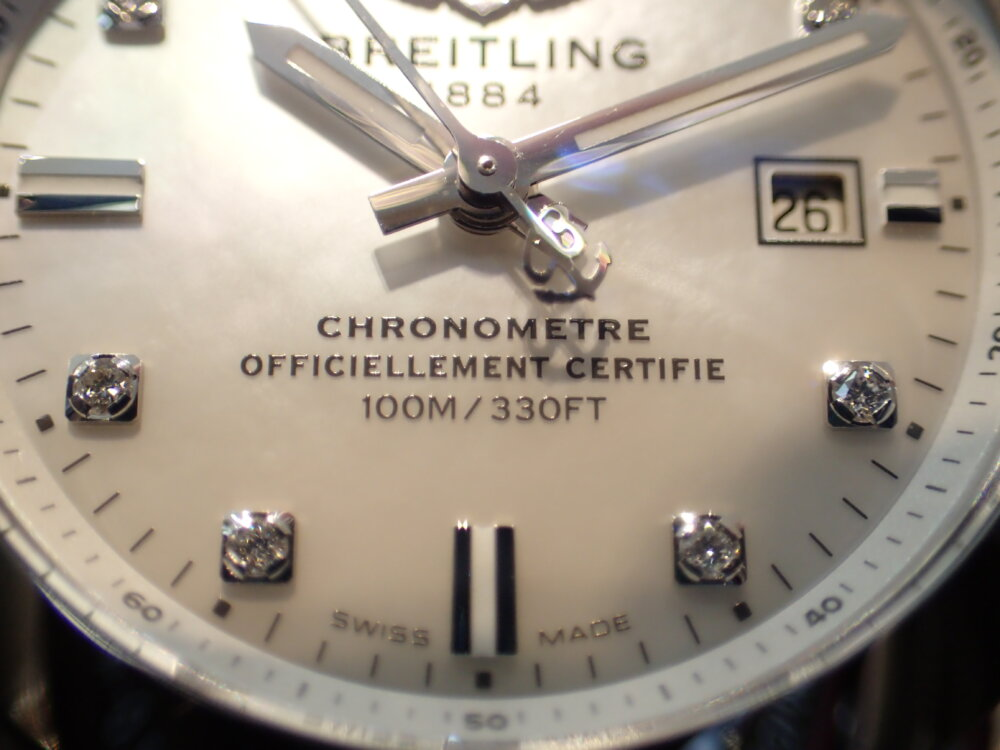 ブライトリング シェルとダイヤモンドが美しいギャラクティック29 スリークT-BREITLING -P1263922