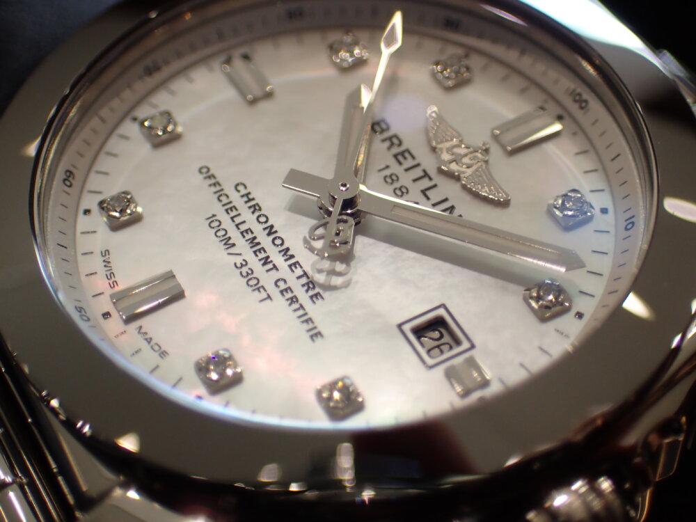 ブライトリング シェルとダイヤモンドが美しいギャラクティック29 スリークT-BREITLING -P1263927