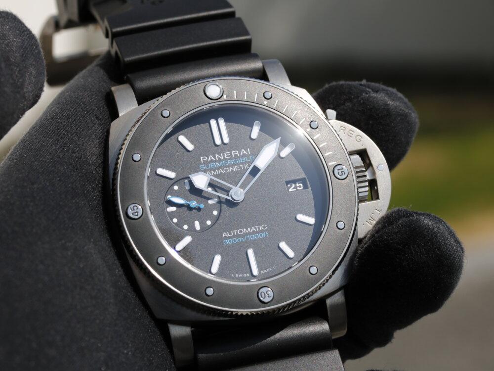 腕時計の大敵『磁気』への耐性をもつダイバーウォッチ サブマーシブル1950 アマグネティック PAM01389-PANERAI -MG_2810