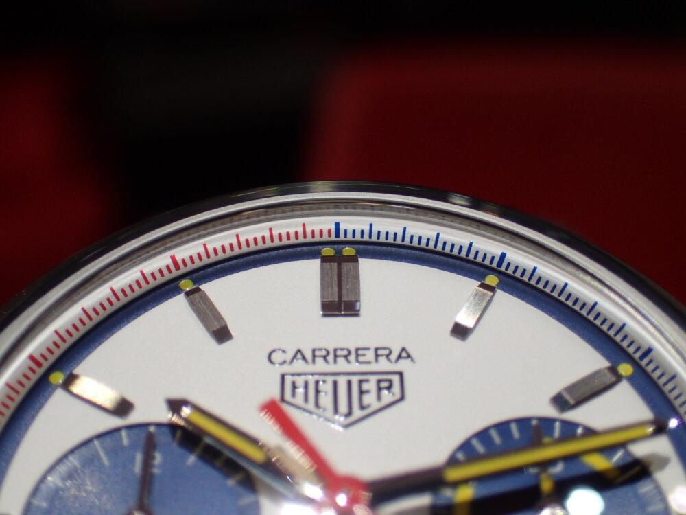 タグ・ホイヤー160周年限定「白・青・赤・黄」1000本限定のカラフルな特別なカレラ!-TAG Heuer -P8079593