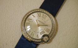 カルティエ44個のダイヤモンドが輝く「バロンブラン パヴェ・スティール」