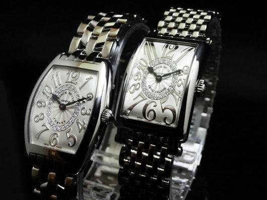 フランク・ミュラー ステンレスとダイヤモンドが組み合わさった人気シリーズ「レリーフダイヤモンド」