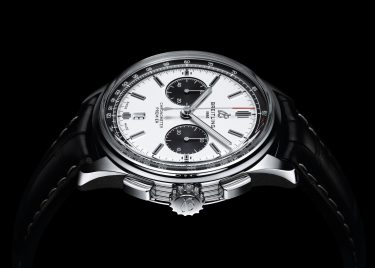 Premier B01 Chronograph 42 with silver dial and black alligator leather strap (PPR/Breitling)
