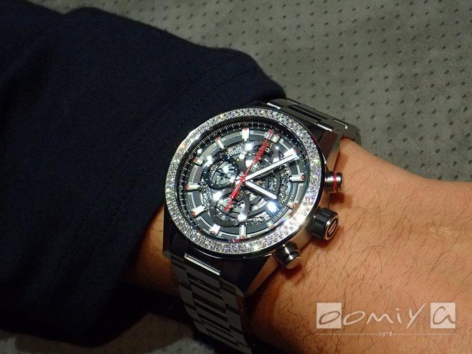 タグ・ホイヤー カレラ ホイヤー01 ダイヤモンドベゼル CAR201P.BA0766