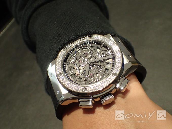 ウブロ アエロ・フュージョン チタニウム ダイヤモンド 525.NX.0170.LR.1104
