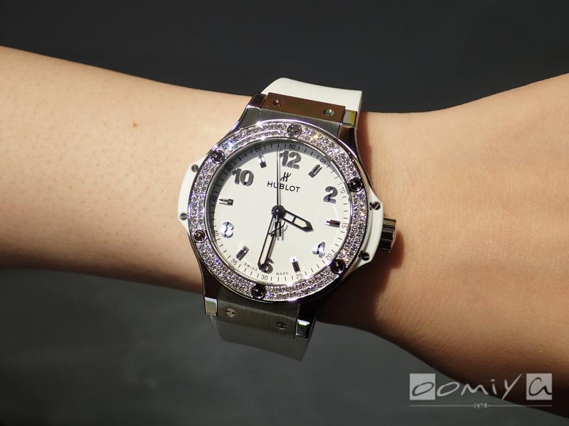 ウブロ ビッグ・バン スチール ホワイト ダイヤモンド 361.SE.2010.RW.1104