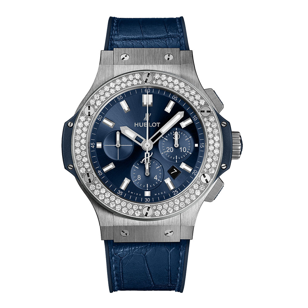 ウブロ ビッグ・バン スチール ブルー ダイヤモンド - 301.SX.7170.LR.1104