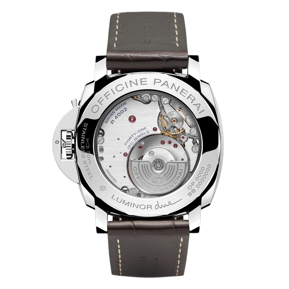 パネライ ルミノール ドゥエ 3デイズ GMT パワーリザーブ オートマティック アッチャイオ - PAM00944