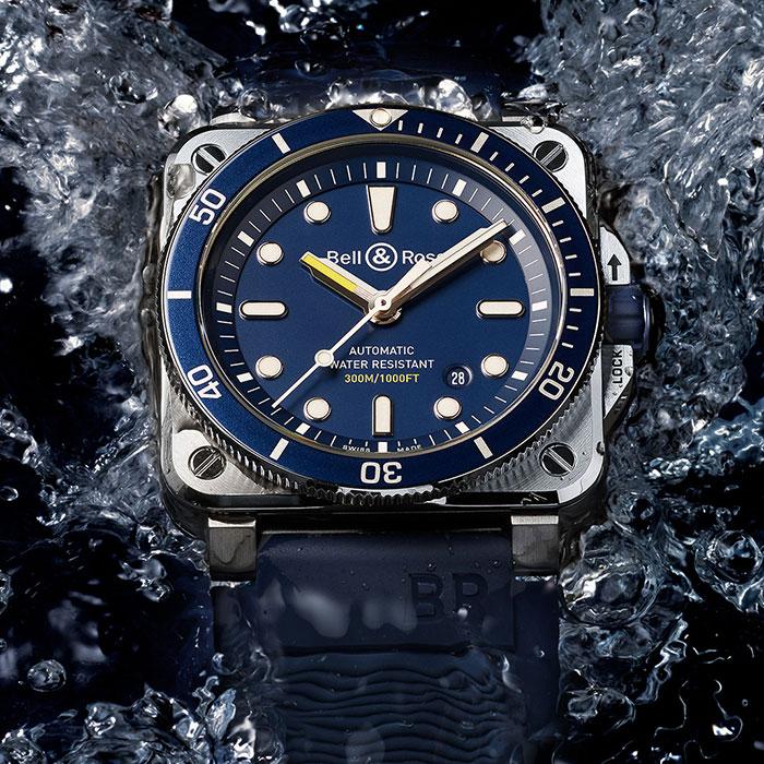 ベル&ロス BR 03-92 DIVER BLUE - BR0392-D-BU-ST/SRB