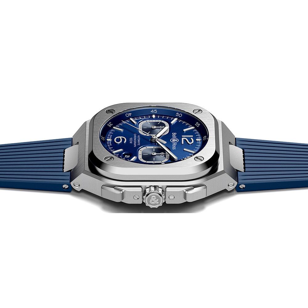 ベル&ロス BR 05 CHRONO BLUE STEEL - BR05C-BU-ST/SRB