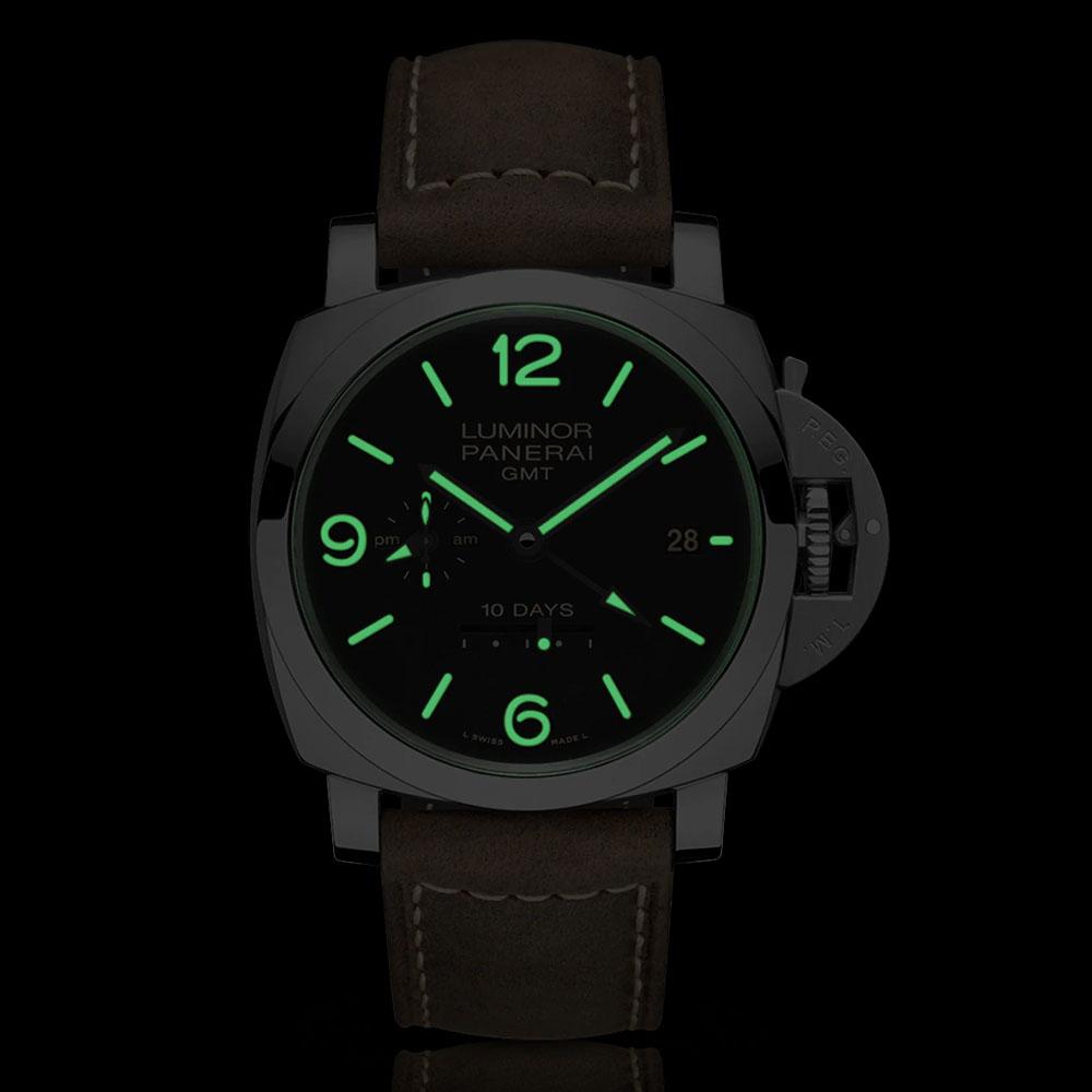 パネライ ルミノール 1950 10デイズ GMT オートマティック アッチャイオ PAM00533