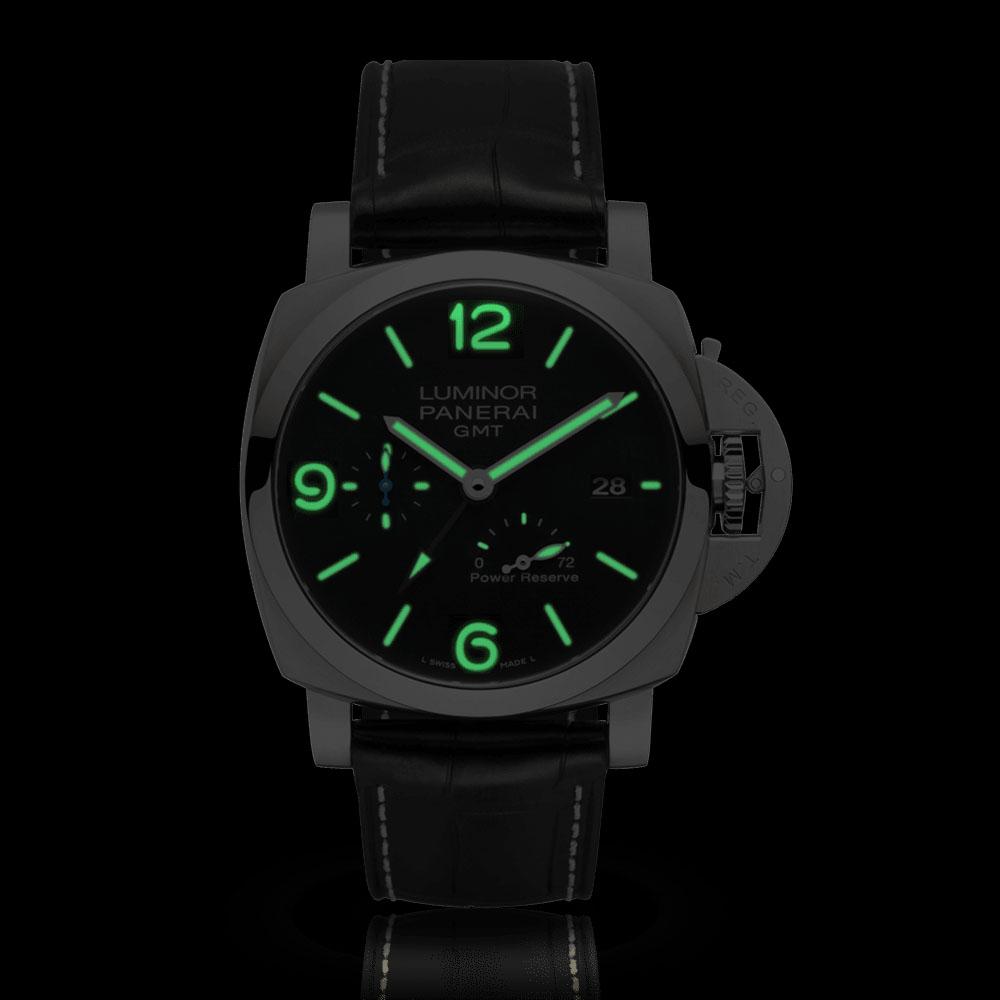 パネライ|ルミノール 1950 3デイズ GMT パワーリザーブ オートマティック アッチャイオ - PAM01321