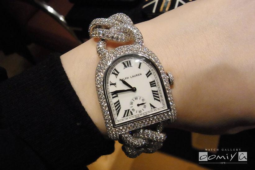 ラルフローレン 2013年新作 スティラップ コレクション ミディアム ダイヤモンド リンク ブレスレット フルパヴェ