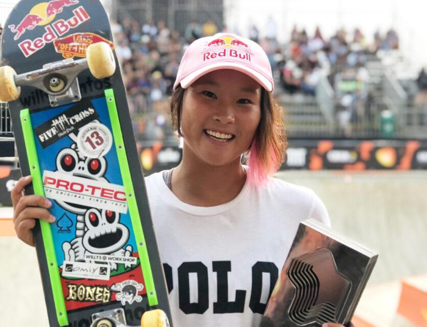 スケートボード・パーク 女子 世界選手権|四十住さくら選手